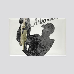 Arkansas Fishing Rectangle Magnet
