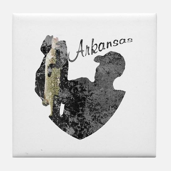 Arkansas Fishing Tile Coaster