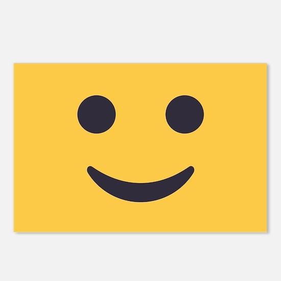 Smile Emoji Face Postcards (Package of 8)