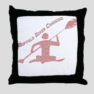 Buffalo River Canoe Throw Pillow