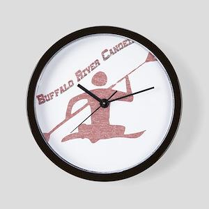 Buffalo River Canoe Wall Clock