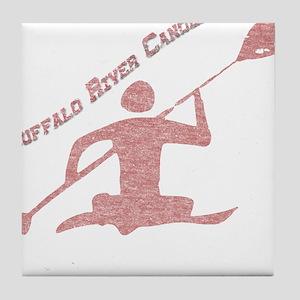 Buffalo River Canoe Tile Coaster