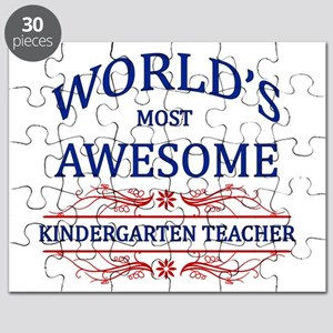 World's Most Awesome Kindergarten Teacher Puzzle