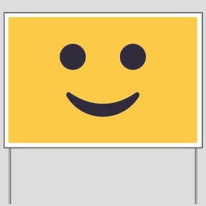 Smile Emoji Face Yard Sign