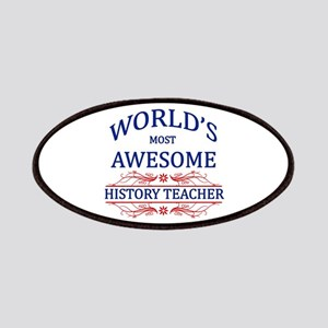 World's Most Awesome History Teacher Patches
