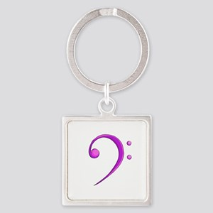 Bass Clef Casual Style Purple Keychains