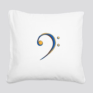Bass Clef Casual Style Orange and Blue Square Canv