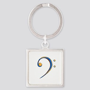 Bass Clef Casual Style Orange and Blue Keychains