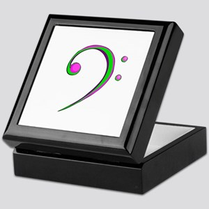 Bass Clef Casual Style Green and Purple Keepsake B