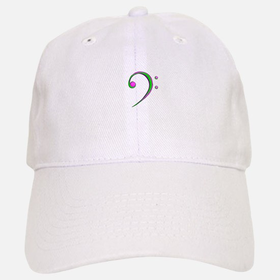 Bass Clef Casual Style Green and Purple Baseball C