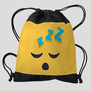 Sleeping Emoji Face Drawstring Bag