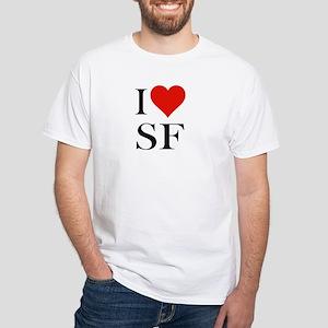 I Love SF-NY Loves You White T-Shirt