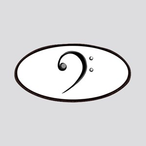 Bass Clef Casual Style Black White Patches
