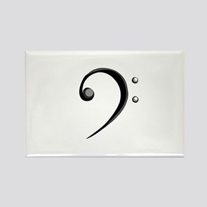 Bass Clef Casual Style Black White Rectangle Magne