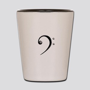 Bass Clef Casual Style Black White Shot Glass