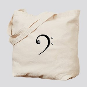 Bass Clef Casual Style Black White Tote Bag
