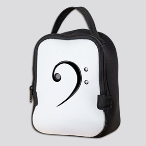 Bass Clef Casual Style Black White Neoprene Lunch