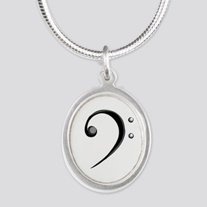 Bass Clef Casual Style Black White Necklaces