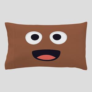 Poop Emoji Face Pillow Case
