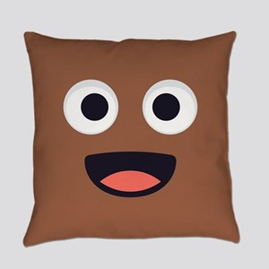 Poop Emoji Face Everyday Pillow