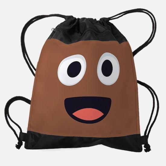 Poop Emoji Face Drawstring Bag