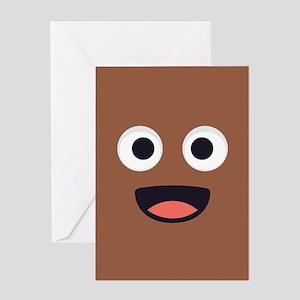 Poop Emoji Face Greeting Card