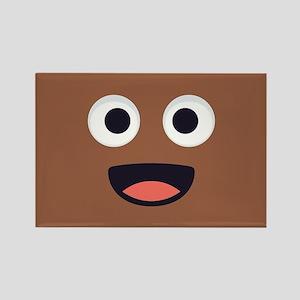 Poop Emoji Face Rectangle Magnet
