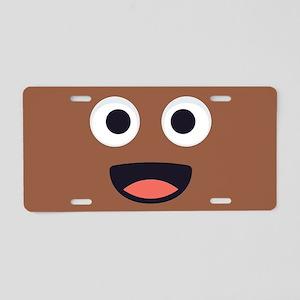 Poop Emoji Face Aluminum License Plate