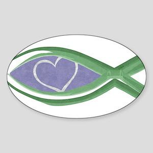 True Love Fish Oval Sticker (10 pk) Sticker