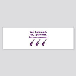 Yes I am a girl Play Bass Purple with bass Bumper