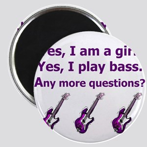 Yes I am a girl Play Bass Purple with bass Magnet