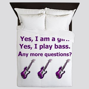 Yes I am a girl Play Bass Purple with bass Queen D