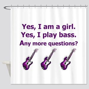 Yes I am a girl Play Bass Purple with bass Shower