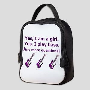 Yes I am a girl Play Bass Purple with bass Neopren