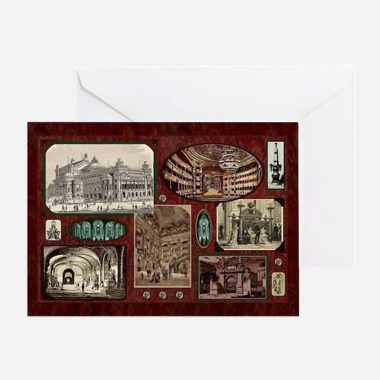 Paris Opera House - Phantom Holiday Greeting Cards