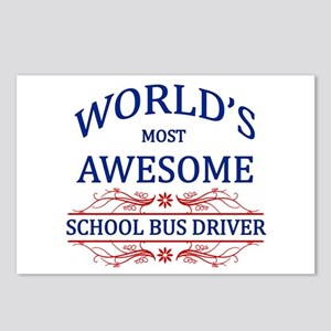 World's Most Awesome School Bus Driver Postcards (