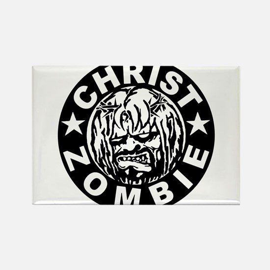 Christ Zombie Rectangle Magnet