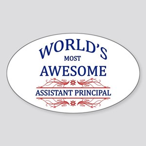 World's Most Awesome Assistant Principal Sticker (