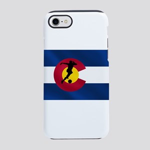 Colorado Soccer Flag iPhone 7 Tough Case