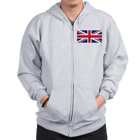 Union Jack Zip Hoodie