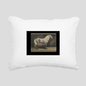 Percheron Horse Rectangular Canvas Pillow