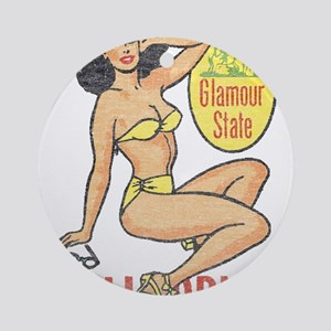 Faded Cali Pinup Ornament (Round)