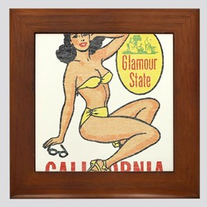 Faded Cali Pinup Framed Tile