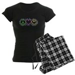 Peace Love Laugh Women's Dark Pajamas