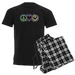 Peace Love Laugh Men's Dark Pajamas