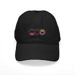 Peace Love Laugh Black Cap