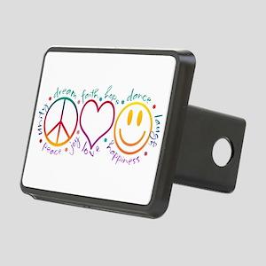 Peace Love Laugh Rectangular Hitch Cover