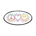 Peace Love Laugh Patches