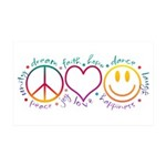 Peace Love Laugh 35x21 Wall Decal