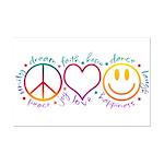Peace Love Laugh Mini Poster Print